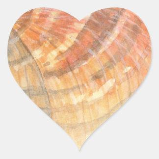 Adesivo Coração Seashell do berbigão da praia em férias de verão