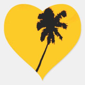 Adesivo Coração Silhueta da palmeira