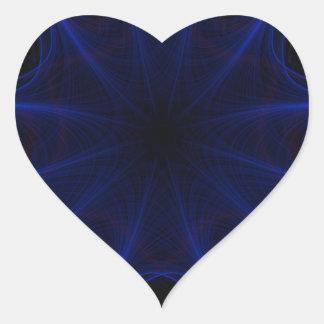Adesivo Coração teste padrão azul do laser