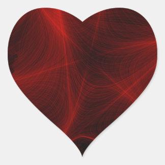Adesivo Coração teste padrão vermelho do laser