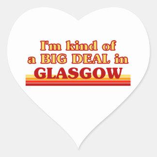 Adesivo Coração Tipo de I´m de uma grande coisa em Glasgow