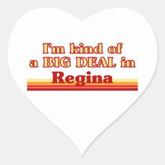 Adesivo Coração Tipo de I'm de uma grande coisa em Regina