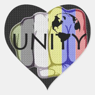 Adesivo Coração Unidade 101