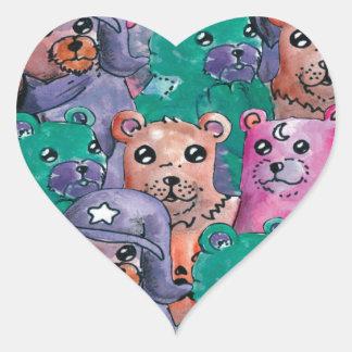 Adesivo Coração ursos de pelucia magicos