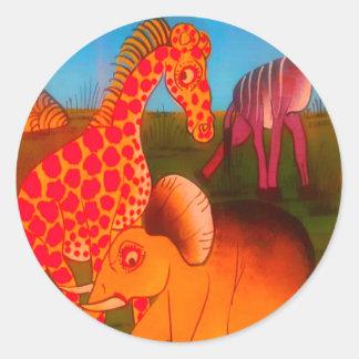 Adesivo Cores africanas coloridas do safari do animal