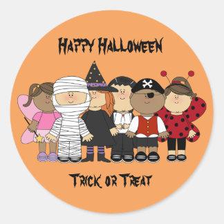 Adesivo Crianças felizes do Dia das Bruxas
