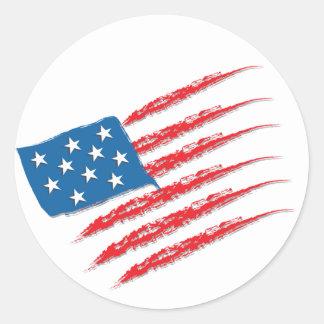 Adesivo Cursos da escova da bandeira dos EUA