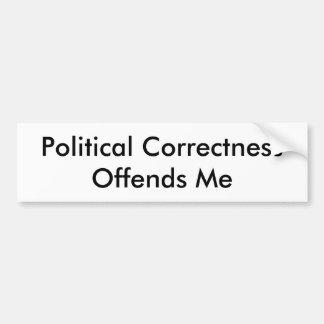 Adesivo De Para-choque A exatidão política ofende-me