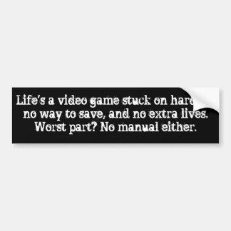Adesivo De Para-choque A vida é um jogo de vídeo