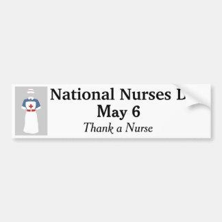 Adesivo De Para-choque Agradeça a uma enfermeira - 6 de maio