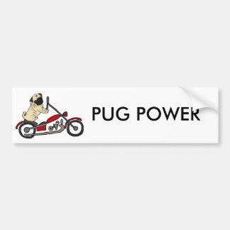 Adesivo De Para-choque Arte engraçada da motocicleta da equitação do cão