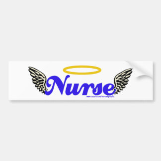 Adesivo De Para-choque Asas do anjo da enfermeira