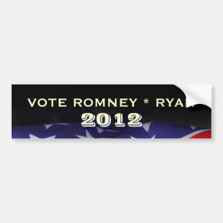 Adesivo De Para-choque Autocolante no vidro traseiro 2012 de Romney Ryan