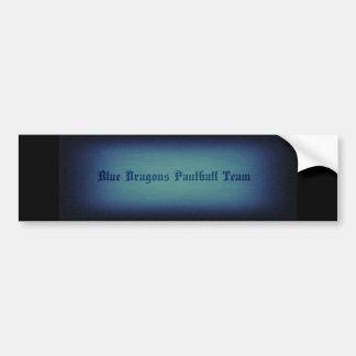 Adesivo De Para-choque Autocolante no vidro traseiro azul do dragão