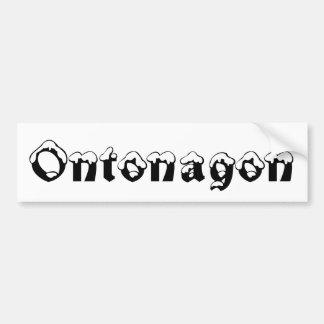 Adesivo De Para-choque Autocolante no vidro traseiro da neve de Ontonagon