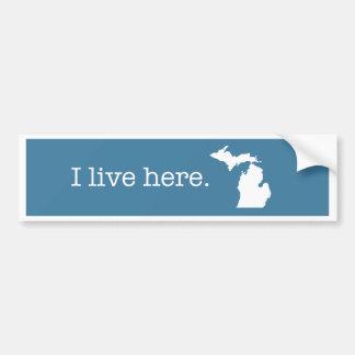 Adesivo De Para-choque Autocolante no vidro traseiro de Michigan