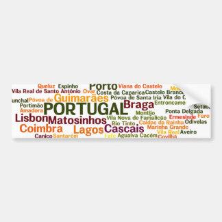 Adesivo De Para-choque Autocolante no vidro traseiro de PORTUGAL