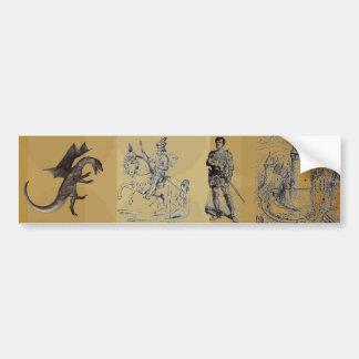 Adesivo De Para-choque Autocolante no vidro traseiro do dragão