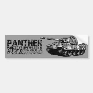 Adesivo De Para-choque Autocolante no vidro traseiro do tanque da pantera
