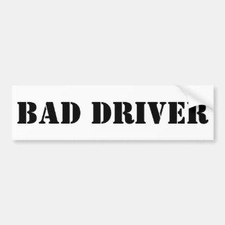 Adesivo De Para-choque Autocolante no vidro traseiro mau do motorista