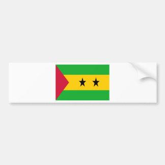 Adesivo De Para-choque Baixo custo! São Tomé e bandeira de Príncipe