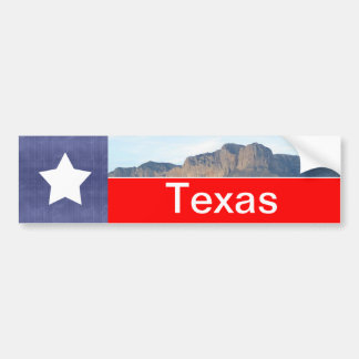 Adesivo De Para-choque Bandeira e montanhas de Texas