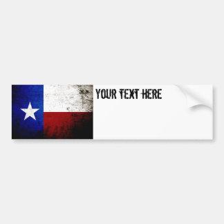 Adesivo De Para-choque Bandeira preta do estado de Texas do Grunge