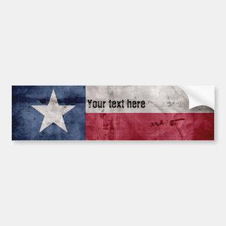Adesivo De Para-choque Bandeira resistida do estado de Texas do vintage