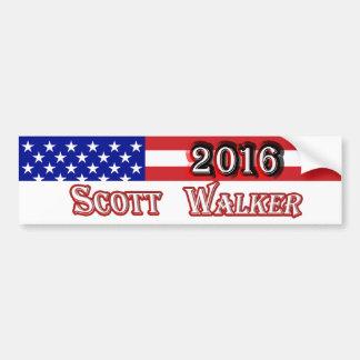 Adesivo De Para-choque Caminhante 2016 de Scott - bandeira dos E.U.