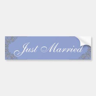 Adesivo De Para-choque Casamento ornamentado azul e de prata