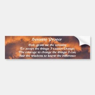 Adesivo De Para-choque Céu da manhã da oração da serenidade inspirado