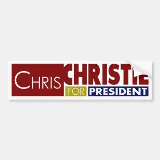 Adesivo De Para-choque Chris Christie para o presidente V1