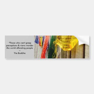 Adesivo De Para-choque Citações budistas das bandeiras w/long da oração