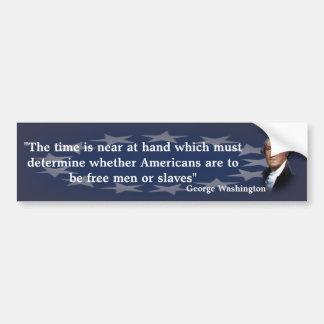 Adesivo De Para-choque Citações de George Washington no tempo