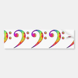 Adesivo De Para-choque Clef baixo colorido