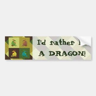Adesivo De Para-choque Coleção doce do dragão