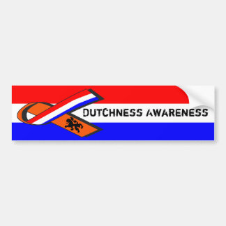 Adesivo De Para-choque Consciência de Dutchness