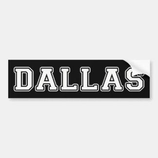 Adesivo De Para-choque Dallas Texas