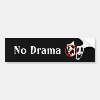 """Adesivo De Para-choque De """"O teatro engraçado nenhum drama"""" mascara o"""