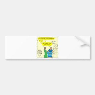 Adesivo De Para-choque Desenhos animados apertados amadores da cor do