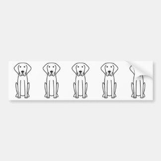 Adesivo De Para-choque Desenhos animados brancos e pretos franceses do