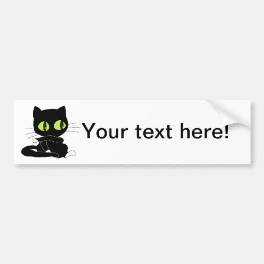 Aparador Vitrina El Corte Ingles ~ Adesivo De Para choque Desenhos animados do gato preto Zazzle Portugal