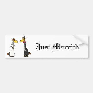 Adesivo De Para-choque Desenhos animados engraçados do casamento dos
