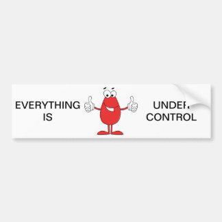 Adesivo De Para-choque Desenhos animados vermelhos engraçados