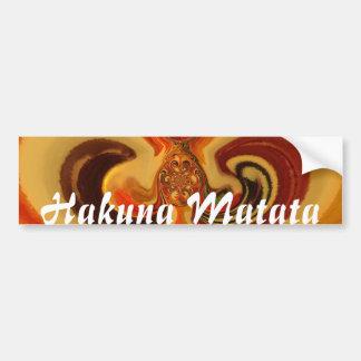 Adesivo De Para-choque Design tradicional bonito de Hakuna   Matata