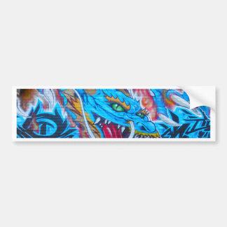 Adesivo De Para-choque Dragão azul