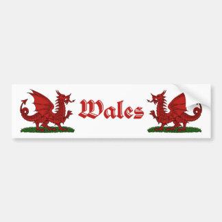 Adesivo De Para-choque Dragão vermelho Wales