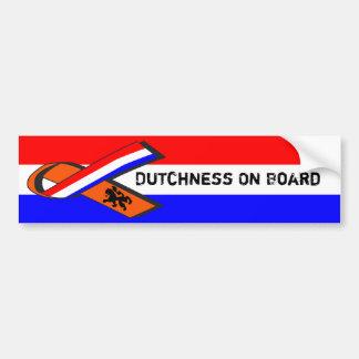Adesivo De Para-choque Dutchness a bordo