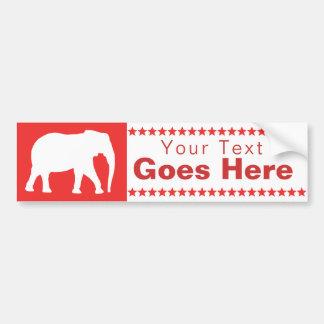 Adesivo De Para-choque Elefante republicano
