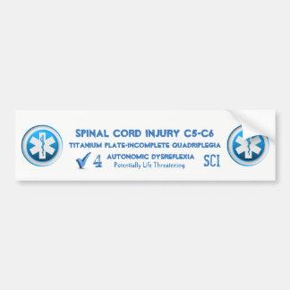 Adesivo De Para-choque Emergência médica da etiqueta alerta médica da